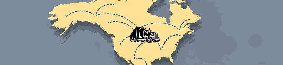 Truck on a Map of North America - Online Training - Infinit-I Workforce Solutions
