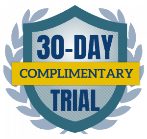 30 dayComplimentaryTrial badge