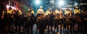 group of policemen on horse 2834173