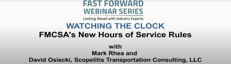 FMCSA HOURS OF SERVICE CHANGES
