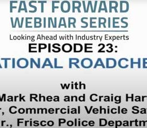 International Road Check 2021 Craig Hart and Mark Rhea are joined by Chris Turner of the Commercial Vehicle Safety Alliance and Thomas Mrozinski, Jr., of the Frisco, Texas, Police Department - Traffic Division to discuss how carriers can prepare for International Road Check 2021