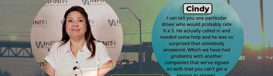 Cindy with ARA Transportation Reviews Infinit-I's #1 Safety Learning Management System LMS